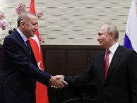Президент РФ В. Путин провел переговоры с президентом Турции Р. Эрдоганом