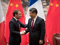 Председатель КНР Си Цзиньпин и президент Франции Эммануэль Макрон