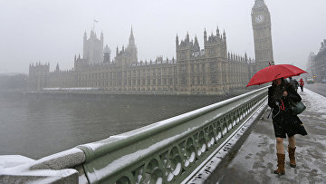 Снежная погода в Лондоне, Великобритания