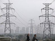 Линии электропередач в Шэньяне, КНР