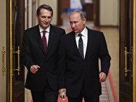 Президент РФ В. Путин принял участие в заседании Госдумы РФ седьмого созыва