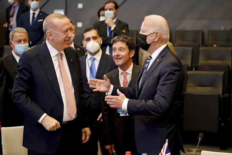 Президент США Джо Байден и президент Турции Реджеп Тайип Эрдоган