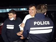 Бывший президент Грузии Михаил Саакашвили в Рустави, Грузия