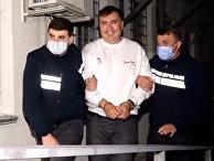 Бывший президент Грузии Михаил Саакашвили после задержания в Рустави