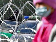 Лагерь беженцев на белорусско-польской границе