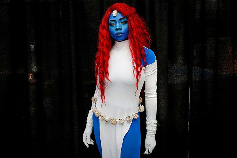 Посетитель Comic Con в Нью-Йорке