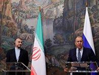 Встреча глав МИД РФ С. Лаврова и Ирана Х. А. Абдоллахияна в Москве