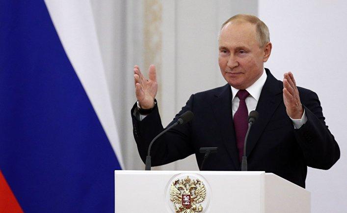 Встреча президента РФ В. Путина с  депутатами Госдумы РФ восьмого созыва