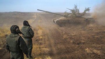 """Танк Т-90А на командно-штабных учениях """"Кавказ-2020"""""""