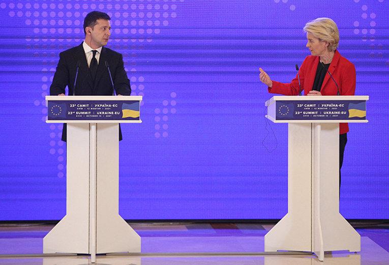Президент Украины Владимир Зеленский и президент Европейской комиссии Урсула фон дер Ляйен