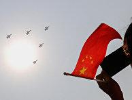 Китайские военные самолеты во время парада в Пекине
