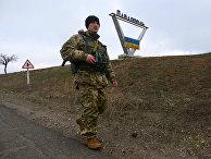 Украинский военнослужащий в селе Павлополь