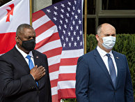 Министр обороны США Ллойд Остин и министр обороны Грузии Джуаншер Бурчуладзе
