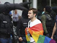 Участник гей-парада в Варшаве