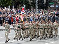 Британские солдаты во время военного парада в честь Дня Независимости в Киеве