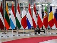 Флаги стран-участниц саммита ЕС в Брюсселе