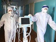 Лечение больных с Covid-19 в больнице скорой помощи в Волгограде